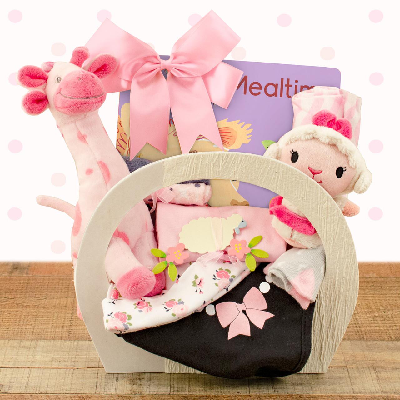 Image 0 of Baby Essentials: Baby Girl Gift Basket
