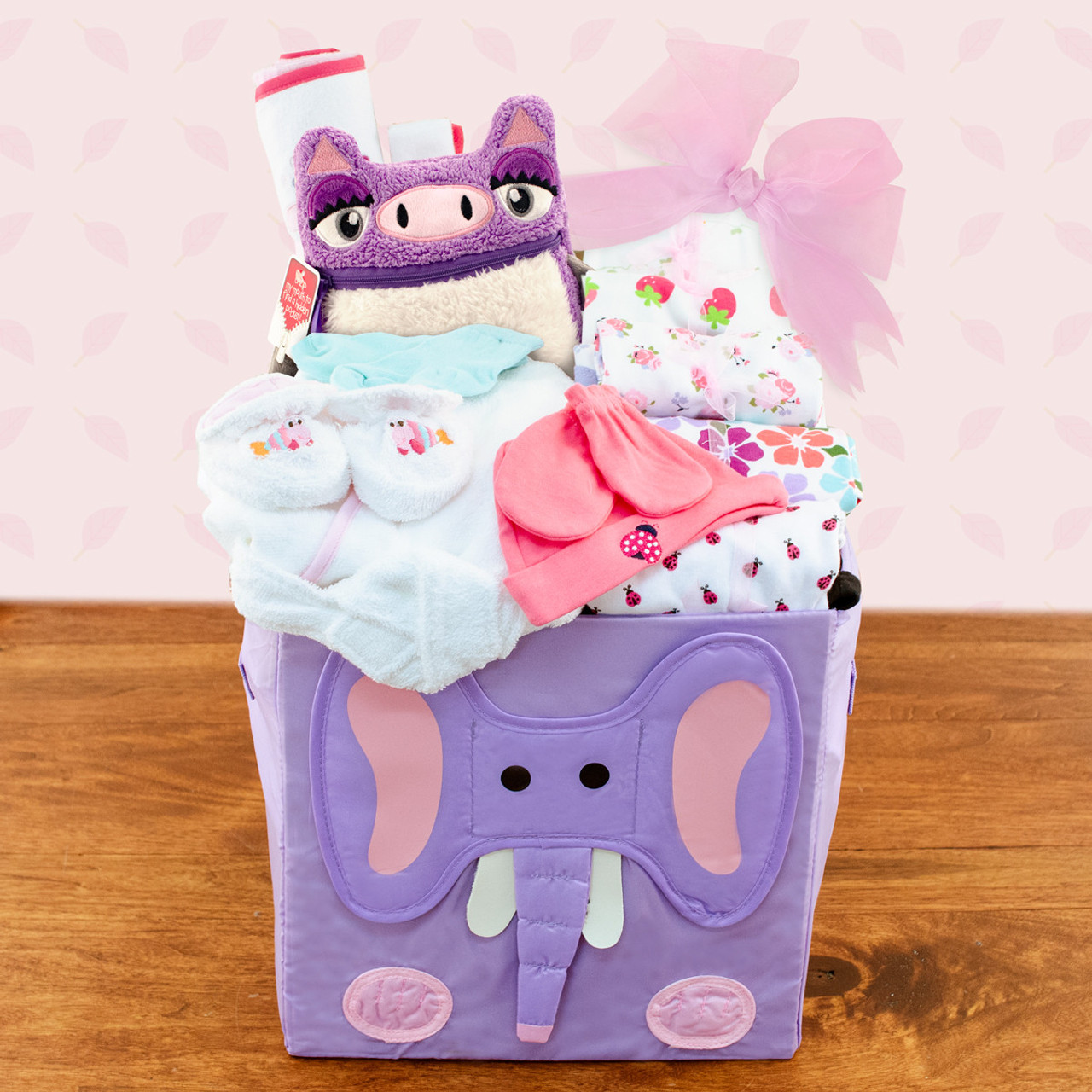Best Wishes: Baby Girl Gift Basket