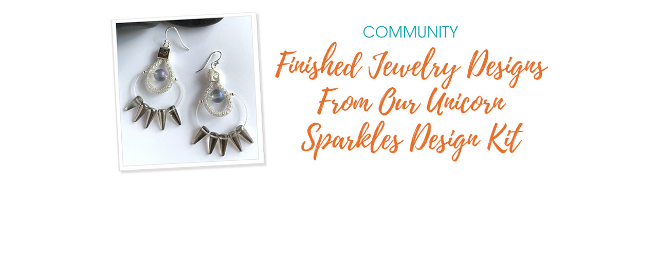 Finished Jewelry Designs From Our Unicorn Sparkles Design Kit