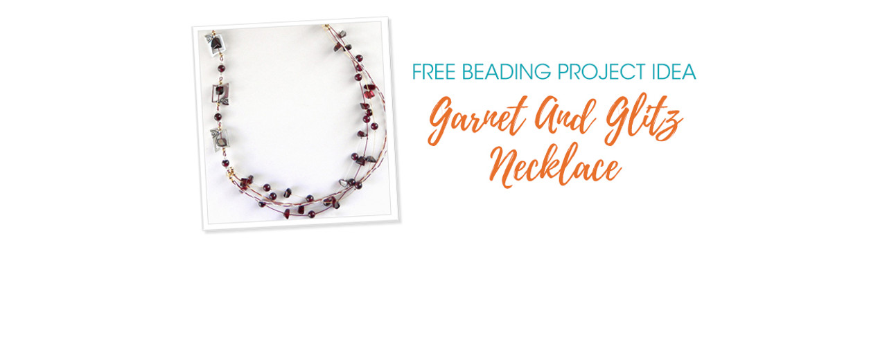 Free Beading Project Idea: Garnet And Glitz Necklace