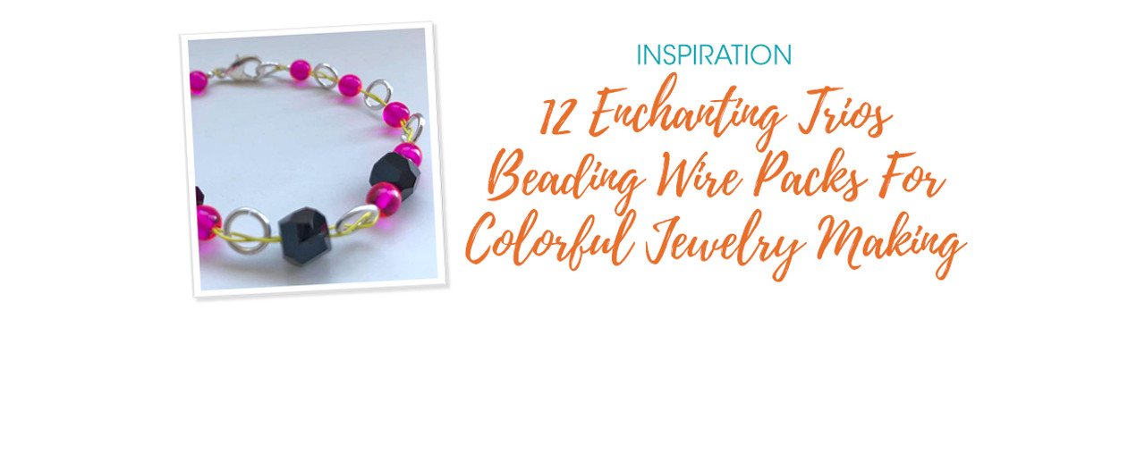 12 Enchanting Trios Beading Wire Packs For Colorful Jewelry Making