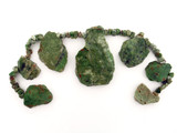 60 Count Varied Size Green Jasper Polished Slabs And Chips (Sale)