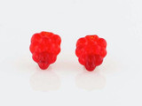 24 Count Czech Glass Red Grape Cluster Beads (Closeout)