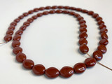 55 Count Czech Glass Cinnamon Brown Oval Bean-Shaped Beads