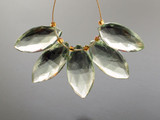 5 Count Varied Size Green Amethyst Faceted Marquise (Sale)