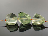 3 Count Varied Size Green Amethyst Simple Cut Nuggets