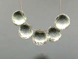 5 Count Varied Size Green Amethyst Faceted Rounds Top Drilled (Sale)
