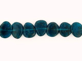 Apx 18 Count Varied Size Blue Apatite Smooth Polished Slices (Sale)