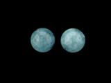 2 Count 12mm Blue Aquamarine (AA) Polished Rounds (Sale)