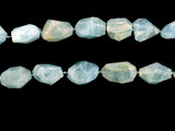 14 Count Graduated Aquamarine Faceted Nuggets  (Sale)