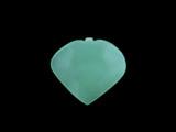 1 Count 34x38mm Blue Peruvian Calcite Faceted Heart Pendant (Sale)
