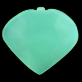 1 Count 34x38mm Blue Peruvian Calcite Faceted Heart Pendant (Sale)