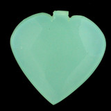 1 Count 28x28mm Blue Peruvian Calcite Faceted Heart Pendant (Sale)