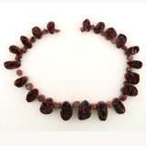 41 Count Graduated Brown Cobalto  Calcite Drusy From Zaire Africa Free Form '1 Of A Kind'  (Sale)