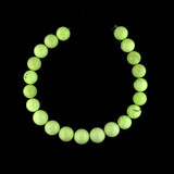 21 Count Graduated Lemon Chrysoprase Polished Round (Sale)