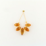 5 Count Varied Sizes Golden Yellow Citrine Faceted Double Point Drop (Sale)