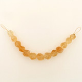 13 Count Graduated Yellow Citrine Chiseled Rounds (Sale)