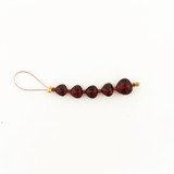 5 Count Graduated Red Garnet Faceted Pear (Sale)