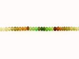 33 Count 5mm Multicolor  Garnet Smooth Rondelles (Sale)