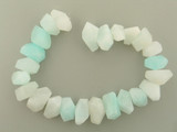 24 Count Varied Sizes Light Blue Hemimorphite Simple Cut Nuggets '1 Of A Kind' (Sale)