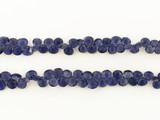 135 Count Graduated Violet Blue Iolite Short Faceted Pears (Sale)