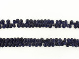 115 Count Graduated Dark Blue Iolite Long Faceted Pears (Sale)