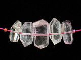 5 Count Varied Size Multicolor Kunzite Faceted Chips (Sale)