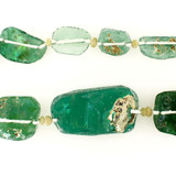 41 Count Green Recycled Glass & Stone '1 Of A Kind' Set (Sale)