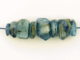 8 Count Blue Kyanite Side Drilled Simple Cut Nuggets