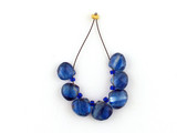 7 Count Varied Sizes Blue Kyanite Faceted Pears (Sale)