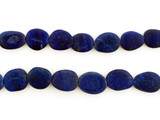 26 Count Varied Size Blue Lapis Lazuli Smooth Matte Flat Ovals