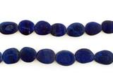 26 Count Varied Size Blue Lapis Lazuli Smooth Matte Flat Ovals (Sale)