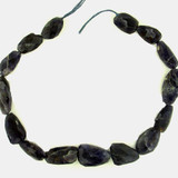 15 Count Iolite Graduated Faceted Nuggets '1 Of A Kind' (Sale)