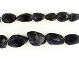 21 Count Iolite Graduated Faceted Nuggets '1 Of A Kind' (Sale)