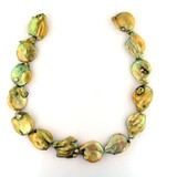 13 Ct Large Lime Green Pearl Baroque Coins (Sale)