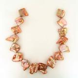 15 Ct Graduated Copper Pearl Baroque Diamonds (Sale)