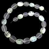 23 Count Graduated Aquamarine And Quartz Smooth Ovals  (Sale)