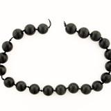20 Count 16mm Black Obsidian Polished Rounds (Sale)