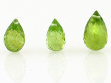 3 Count Set Peridot Briolettes (Sale)