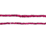 200 Count Graduated Pink Tourmaline Faceted Rondelles