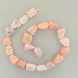 19 Count Varied Size Pink Opal Smooth Nuggets (Sale)