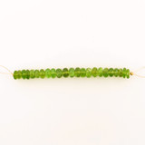 23 Count 8-9mm Green Ab Grade Peridot Faceted Rondelles (Sale)
