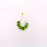 6 Count Graduated Green Peridot Faceted Pears (Sale)
