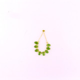 8 Count 6x4mm Green Peridot Faceted Top Drilled Ovals  (Sale)