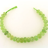 26 Count Graduated Green Prehnite Faceted Rondelles (Sale)