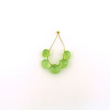 5 Count Graduated Green Prehnite Faceted Pears (Sale)