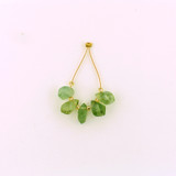 5 Count Varied Size Green Prehnite  Top Drilled Twist Drops (Sale)