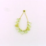 10 Count Pale Green To Yellow Prehnite Faceted Pears (Sale)