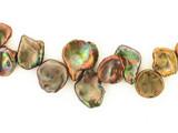 12 Count Graduated Copper Green Pearl Cornflakes (Sale)