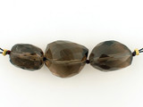 3 Count Varied Sizes Smoky Quartz Multifaceted Nuggets